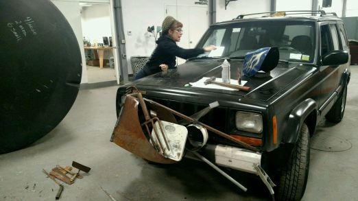 Helping art car